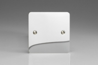 Varilight Single Blank Plate Ultra Flat Polished Chrome