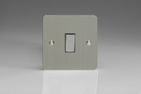 Varilight 1 Gang 20 Amp Double Pole Switch Ultra Flat Brushed Steel