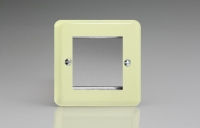 Varilight 2 Gang Data Grid Face Plate For 2 Data Module Widths Classic Lily White Chocolate