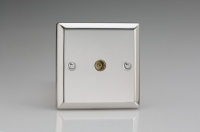Varilight 1 Gang Co-axial TV Socket Classic Polished Chrome