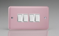 Varilight 4 Gang 10 Amp Switch Classic Lily Rose Pink