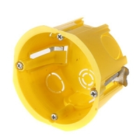 Schneider Yellow 45mm Deep European Wall Box For Hollow Walls For Single Sockets, Switches and Dimmers