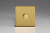 Z2XDBTD1S 1 Gang Touch/Remote Dimmer Plate Screwless Brushed Brass