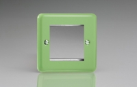 Varilight 2 Gang Data Grid Face Plate For 2 Data Module Widths Classic Lily Beryl Green