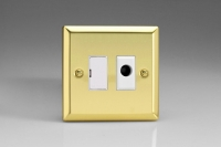 Varilight 1 Gang 13 Amp Unswitched Fused Spur with Flex Outlet Classic Victorian Brass