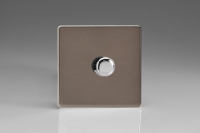 Varilight V-Plus Series 1 Gang 60-700 Watt/VA Dimmer Screwless Pewter