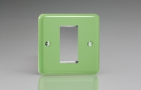 Varilight 1 Gang Data Grid Face Plate For 1 Data Module Width Classic Lily Beryl Green