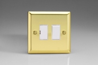 Varilight 1 Gang 13 Amp Double Pole Switched Fused Spur Classic Victorian Brass