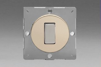 Z1EG1N-P Varilight European VariGrid 1 gang 1 or 2 Way 10A Rocker Polished Chrome Switch, for use with VariGrid Single, Double and Triple Faceplates