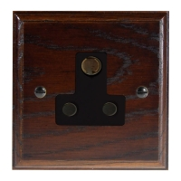 Classic 1Gang 5Amp Unswitched Socket in Solid Dark Oak