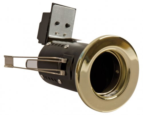 FGFB-1 Fire Rated Downlight GU10 Fixed - Brass
