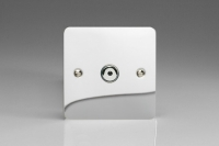 Varilight V-Plus IR Series 1 Gang 40-600 Watt Touch and Remote Dimmer Ultra Flat Polished Chrome