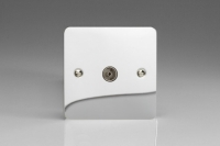 Varilight 1 Gang Co-axial TV Socket Ultra Flat Polished Chrome