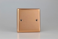 Varilight Single Blank Plate Classic Polished Copper