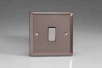 Varilight 1 Gang 10 Amp Switch Classic Pewter