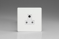 Varilight 1 Gang 5 Amp White Round Pin Socket 0-1150 Watts Screwless Premium White