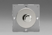 Varilight European Polished Chrome VariGrid V-Com Series 1 Gang 1 or 2 Way 15 -180 Watt Leading Edge Dimmer For LEDs