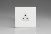 Varilight 1 Gang 2 Amp White Round Pin Socket 0-460 Watts Screwless Premium White