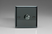 Varilight V-Com Series 1 Gang 0-100 Watt Leading Edge LED Dimmer Iridium Black