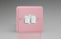 Varilight 2 Gang 10 Amp Switch Classic Lily Rose Pink
