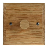 Wood 1 Gang 2Way Push on/Push off 400W/VA LED Dimmer in Solid Oak
