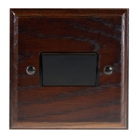 Classic 10Amp 3Pole Fan Isolator Switch in Solid Dark Oak