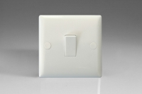Varilight 1 Gang 10 Amp Switch Classic Polar White Moulded Bevel