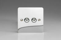Varilight V-Plus IR Series 2 Gang 40-400 Watt Touch and Remote Dimmer Ultra Flat Polished Chrome