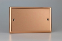 Varilight Double Blank Plate Classic Polished Copper