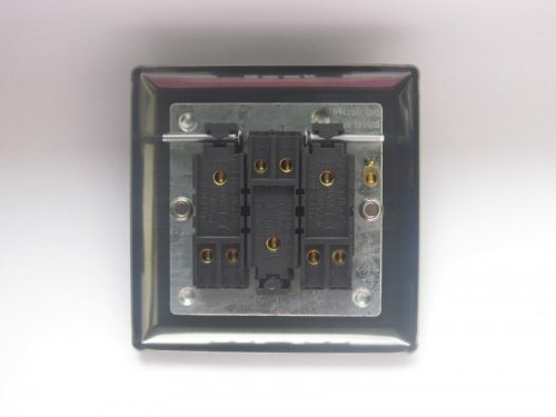 Varilight 3 Gang 10 Amp Switch Classic Iridium Black Effect Finish