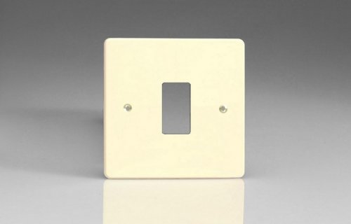 Varilight 1 Gang Power Grid Faceplate Including Power Grid Frame Dimension White Chocolate Effect Finish