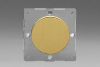 Varilight European Brushed Brass VariGrid 1 Gang Blank Plate