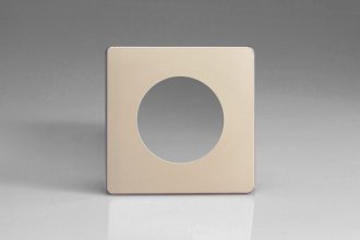 XENG1S-P Varilight European VariGrid Single faceplate with a 1 hole cut-out, Dimension Screwless Satin Chrome