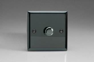 Varilight V-Pro Series 1 Gang 0-120W Trailing Edge LED Dimmer Iridium Black Effect Finish