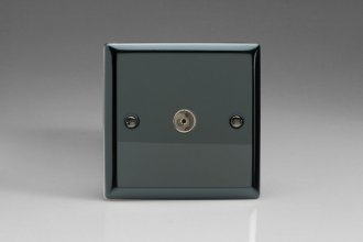 Varilight 1 Gang Co-axial TV Socket Classic Iridium Black