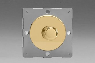 Varilight European Polished Brass VariGrid V-Dim Thermal Series 1 Gang 1 or 2 Way 60-400 Watt Dimmer