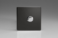 Varilight V-Plus Series 1 Gang 40-500 Watt/VA Dimmer Screwless Premium Black