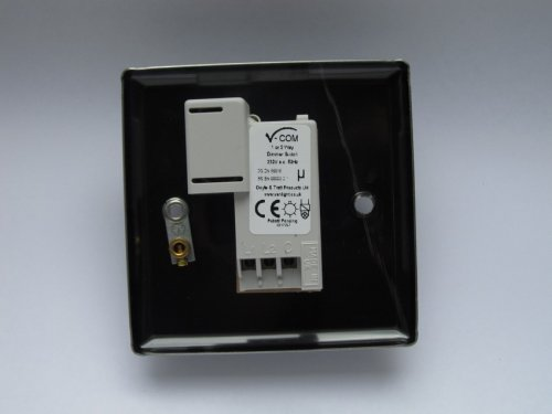 Varilight V-Com Series 1 Gang 15-220 Watt Leading Edge LED Dimmer Georgian Polished Brass Coated
