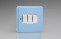 Varilight 3 Gang 10 Amp Switch Classic Lily Duck Egg Blue
