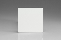 Varilight Single Blank Plate Screwless Premium White