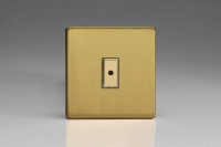 Varilight V-Pro Multi Point Remote (MPR or Eclique2) Series 1 Gang 0-100 Watts Multi Point Remote Master LED Dimmer Screwless Brushed Brass