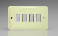 Varilight V-Pro Multi Point Tactile Touch Slave (MP Slave) Series 4 Gang Unit for use with V-Pro Multi Point Remote Master Dimmers White Chocolate