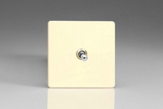 Varilight 1 Gang 10 Amp Toggle Switch Screwless White Chocolate Effect Finish