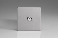 Varilight V-Plus IR Series 1 Gang 40-600 Watt Touch and Remote Dimmer Screwless Brushed Steel