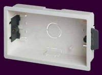 WPLBOXD35 Plastic 2 Gang Double Dry Lining (Plasterboard) Wall Box 35mm deep [Electrician's Choice]