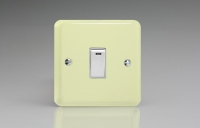 Varilight 1 Gang 20 Amp Double Pole Switch with Neon Classic Lily White Chocolate