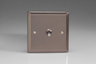 Varilight 1 Gang 10 Amp Toggle Switch Classic Pewter Effect Finish