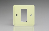 Varilight 1 Gang Data Grid Face Plate For 1 Data Module Width Classic Lily White Chocolate