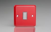 Varilight V-Pro Multi Point Tactile Touch Slave (MP Slave) Series 1 Gang Unit for use with V-Pro Multi Point Remote Master Dimmers Pillar Box Red