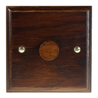 Wood 1 Gang 2Way Push on/Push off 400W/VA Dimmer Switch in Solid Dark Oak